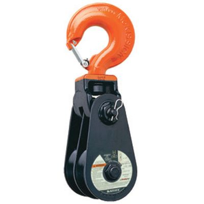 Snatch Block McKissick 408 Double Sheave with Hook - Light Champion