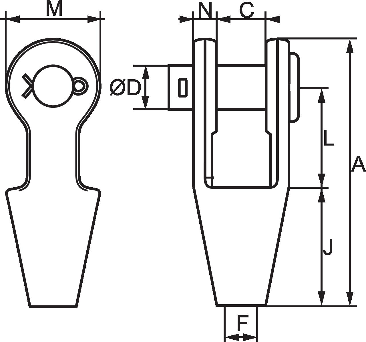 Open Spelter Socket Oss Certex Uk Diagram For Wiring 8 Pin Nr 51 G1m Micke 225mm