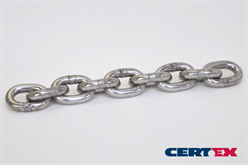 some links of a steel chain